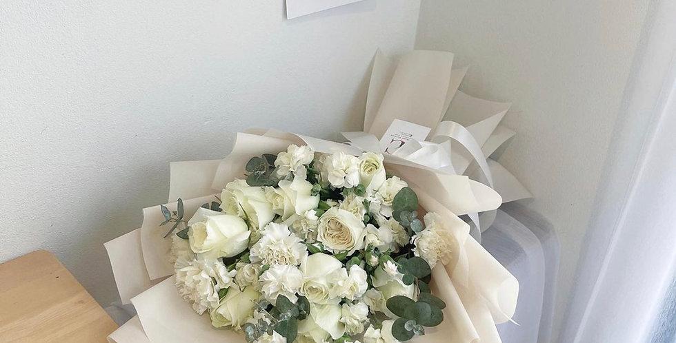 All White - Medium Size Bouquet