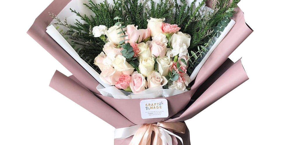 White and Pink Tone Roses