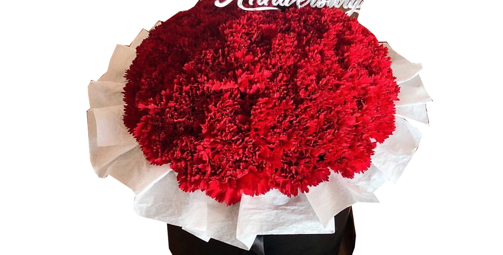Red Carnations in a Box