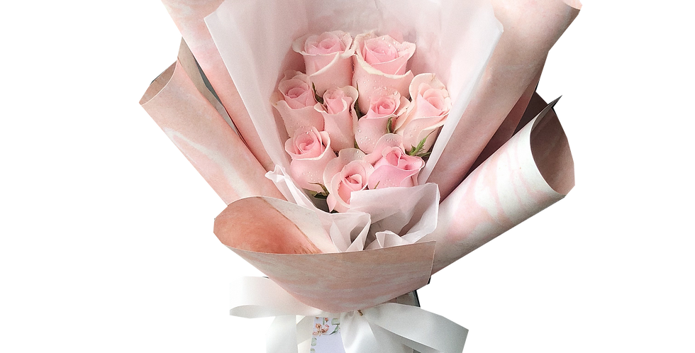 10 Light Pink Roses