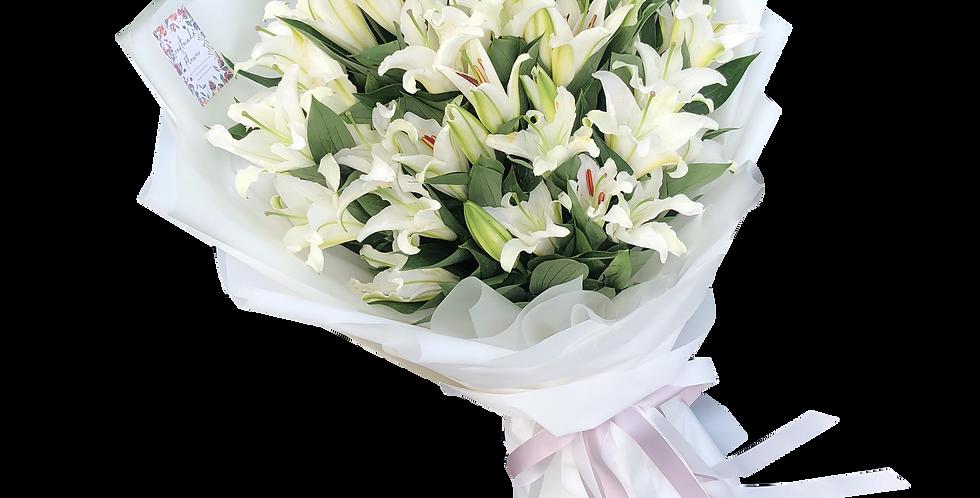 XL White Lilies Bouquet