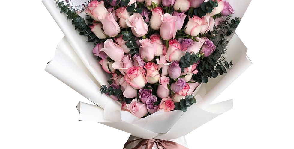 60 Pink & Purple Tone Roses