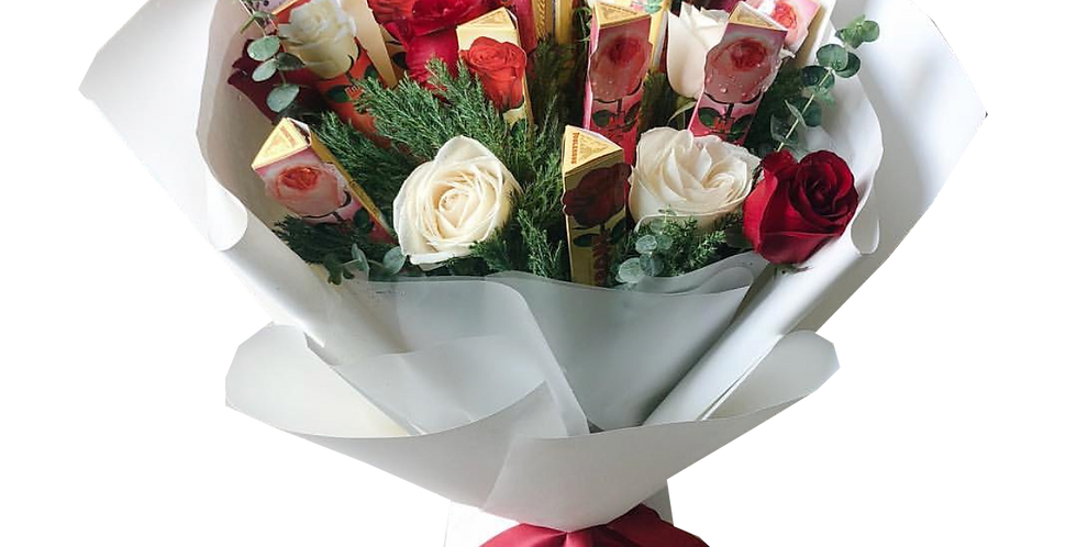 Large Chocolate & Roses Bouquet