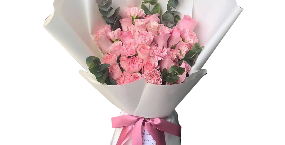 Mix of Pink Tone Flowers