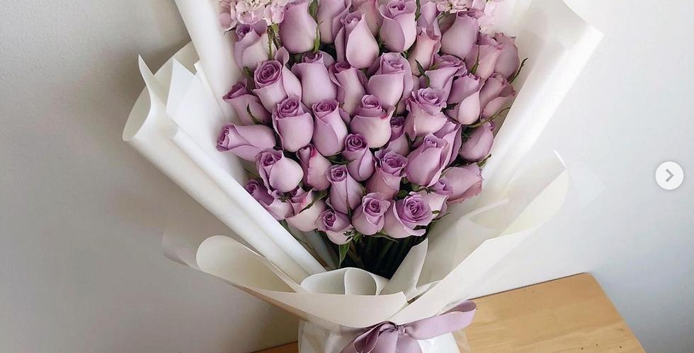 40 Purple Roses
