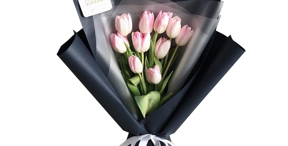 10 Pink Tulips