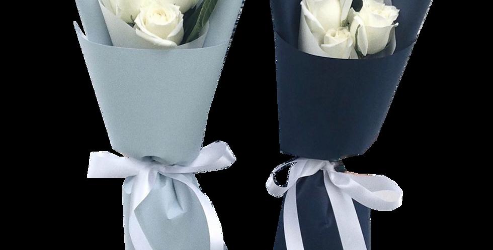 Mini 3 White Roses