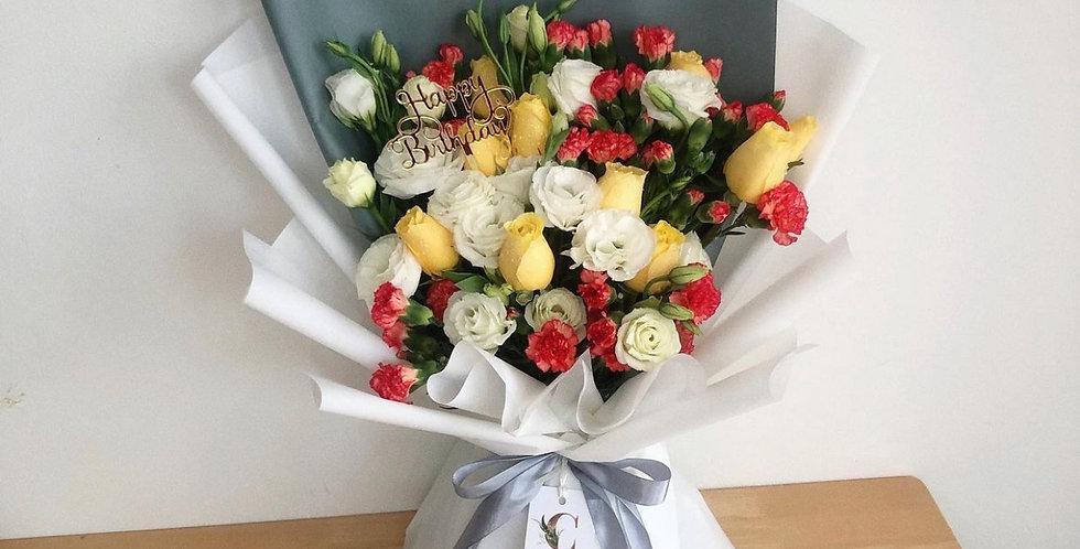 White, Orange, & Yellow Tone Bouquet