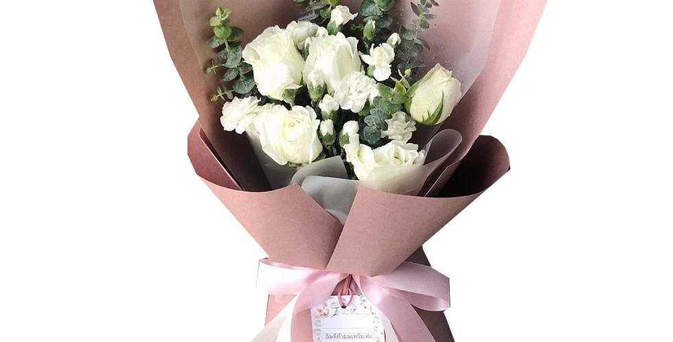 Mix of White Tone Flowers