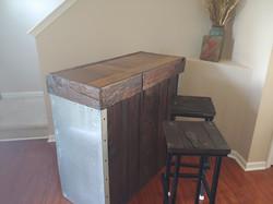 Wet bar and Bar stools