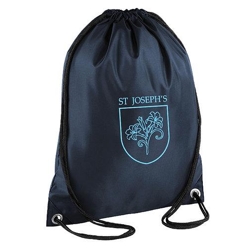 PE Drawstring Bag with School Logo