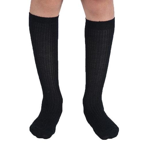 Black Acrylic Knee High Socks