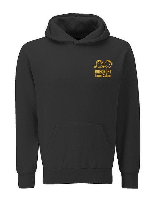 Hooded Sweatshirt - Black with Embroidered Logo