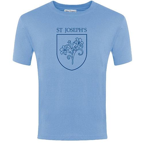 PE T-Shirt - Sky Blue Printed