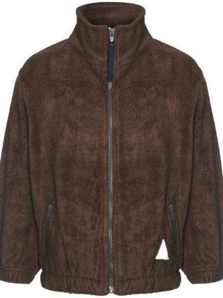 Fleece Jacket - Brown with Embroidered Logo