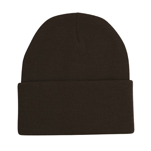 Brown (Gold image to follow) Woolly Hat with Embroidered Logo