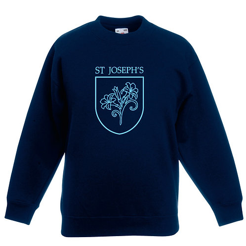 Sweatshirt - Navy with Printed Logo