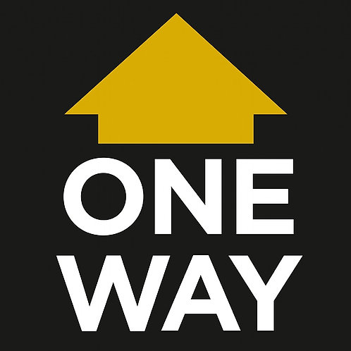 One Way Floor Stickers - 10 Pack