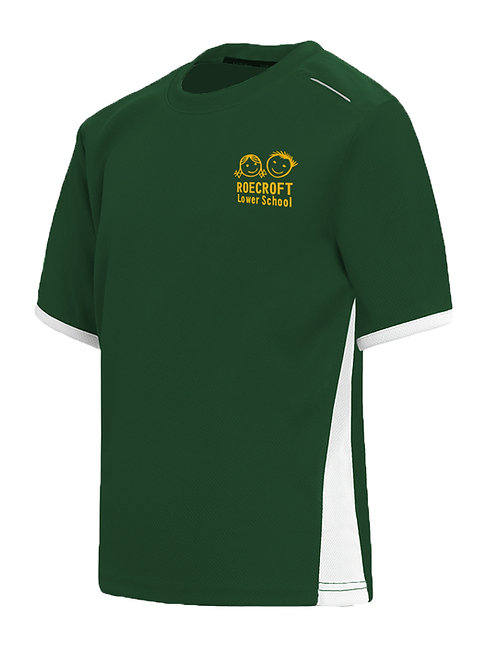 PE T-Shirt - Bottle Green with Embroidered Logo