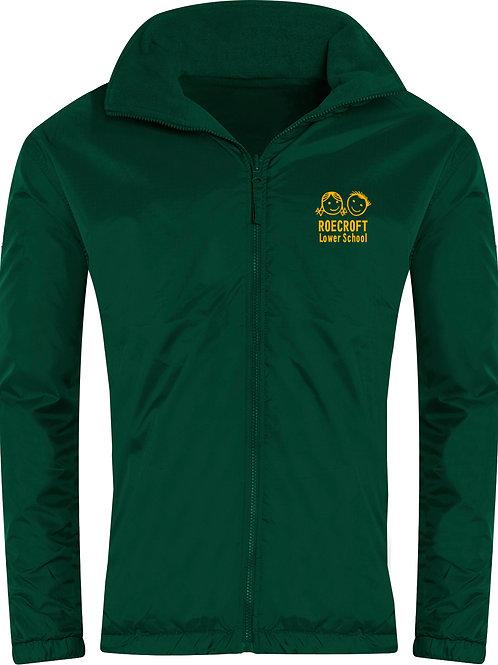 Reversible Fleece Showerproof Jacket Bottle Green