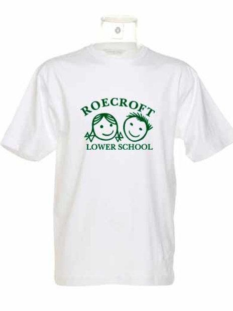 PE T-Shirt - White with Print