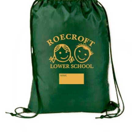 PE Drawstring Bag with School Logo