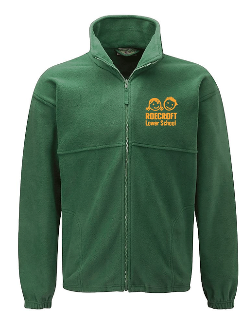 Staff Fleece Jacket - Bottle Green with Embroidered Logo