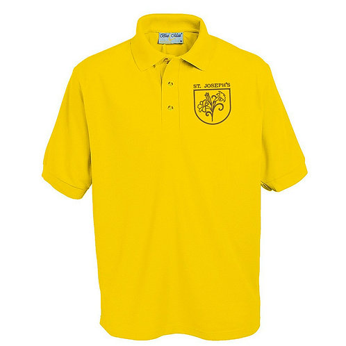 Polo Shirt - Gold with Embroidered Logo