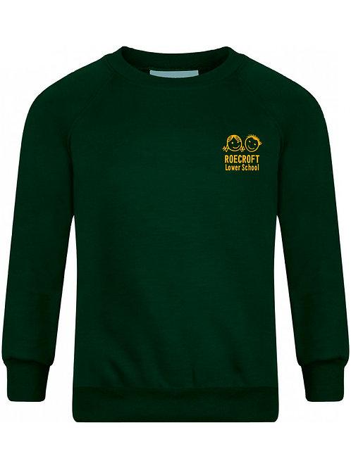 Sweatshirt - Bottle Green with Embroidered Logo