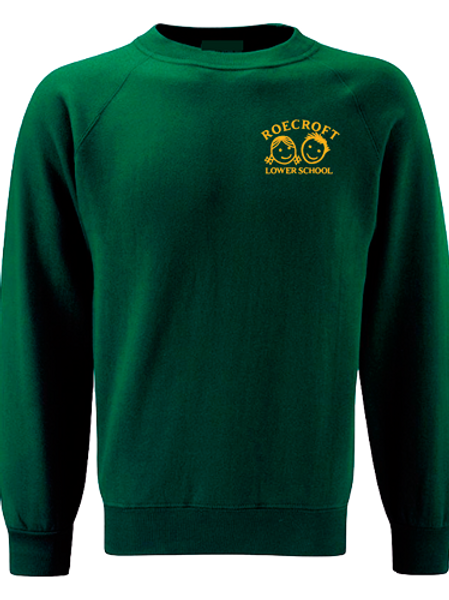 Sweatshirt - Bottle Green with Embroidered Logo