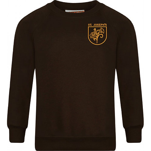 Sweatshirt - Brown with Embroidered Logo