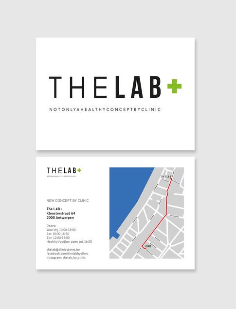 The Lab - logo + flyer