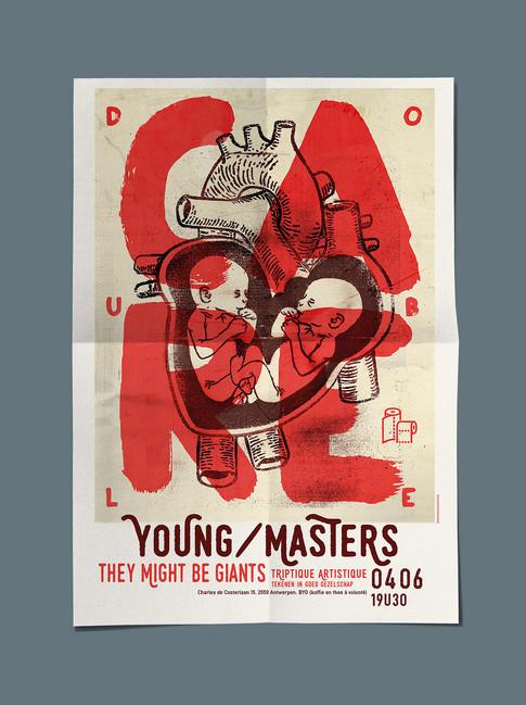 A2 flyer triptique artistique