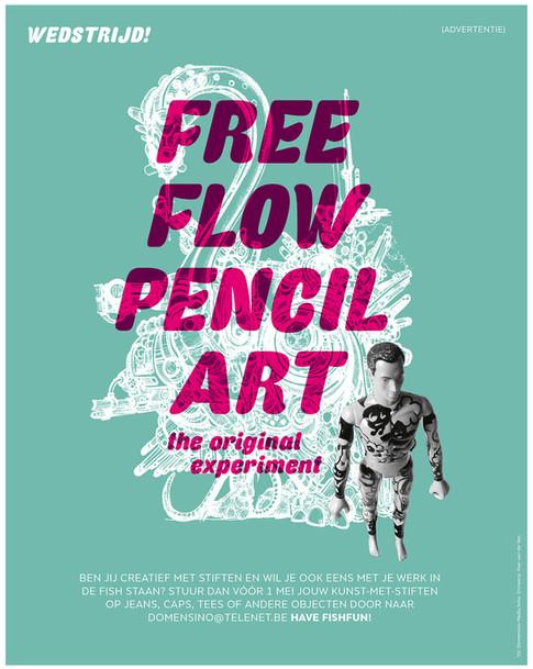 De fish magazine - Free flow pencil art
