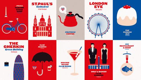 Sabato magazine - London city trip, kaarten + icons