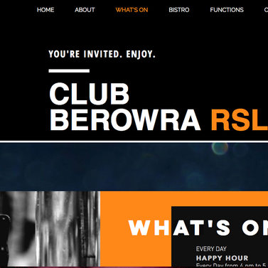 Club Berowra RSL Website