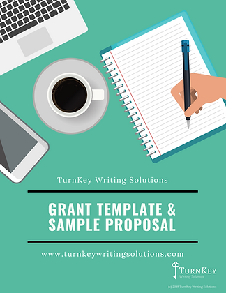 Grant Template & Sample Proposal Plus BONUS