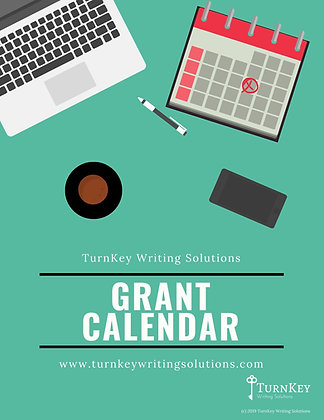 Grant Calendar - Editable and Perpetual - Excel Instant Download