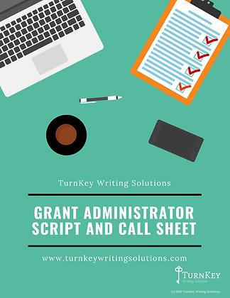 Sample Grant Administrator Script & Call Sheet