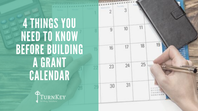 4 Things You Need to Know Before Building a Grant Calendar