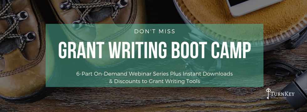 Reminder Page Grant Writing Boot Camp (2