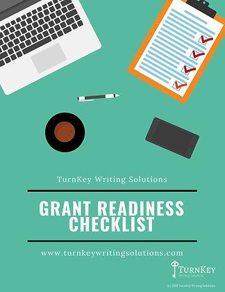 Grant Readiness Checklist - PDF Instant Download