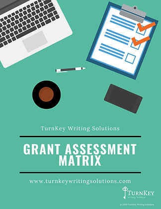 Grant Assessment Matrix - PDF Instant Download