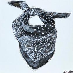 Black Bandana Wild Rag