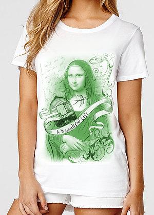 Women's (A Beautiful Life) White & Green T-Shirt