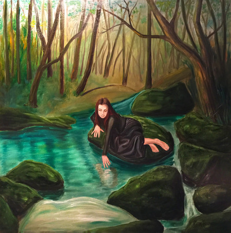 """Margie's Painting """"Heart of the Forest"""" was juried into the Intimate Moments exhibit."""