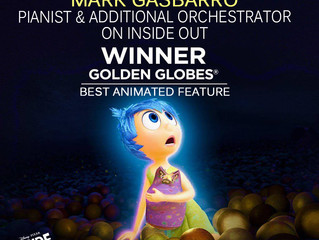 Congratulations Inside Out!  Happy to have been a part of this great film!