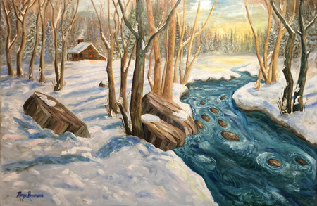 "Margie's Painting ""North of Somewhere"" was juried into the CAL Gold Medal Exhibit!"