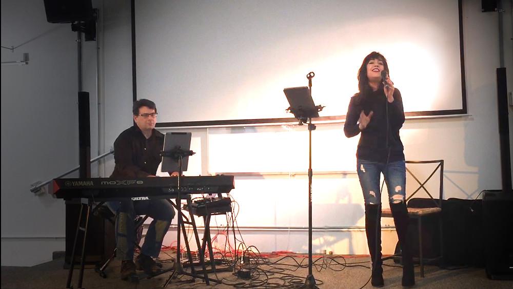 Performing at the San Fernando Valley Arts & Cultural Center.