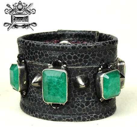 Genuine Indian Emeralds and studs in 925 silver